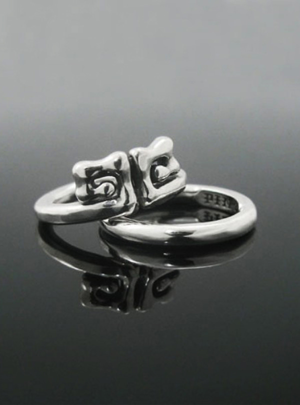 O Kong-2 silver layered ring