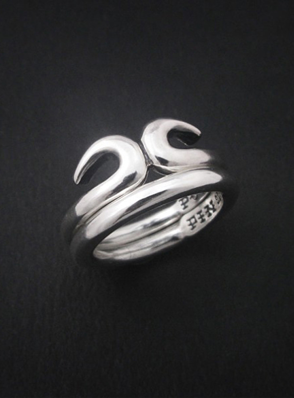 O Kong-1 silver layered ring