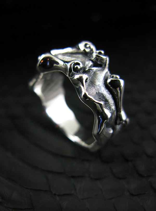 RollingL silver ring