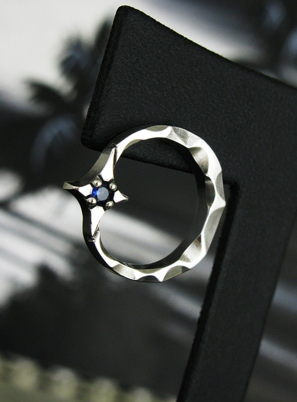 Crescent light-S1 Earring